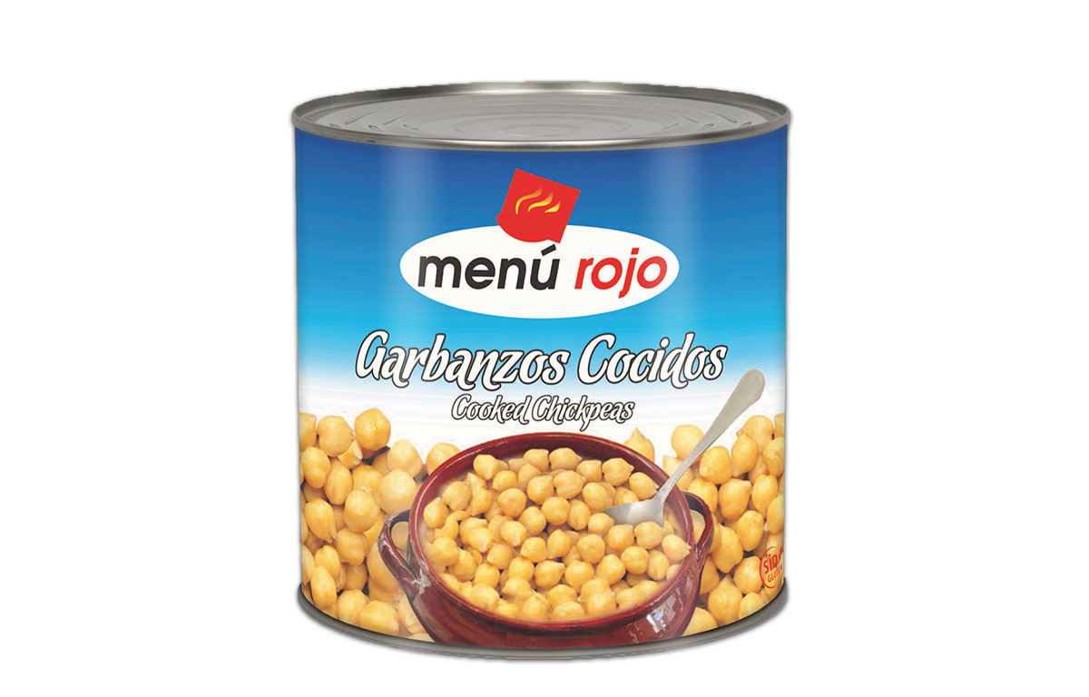 MENU ROJO - GARBANZOS COCIDOS