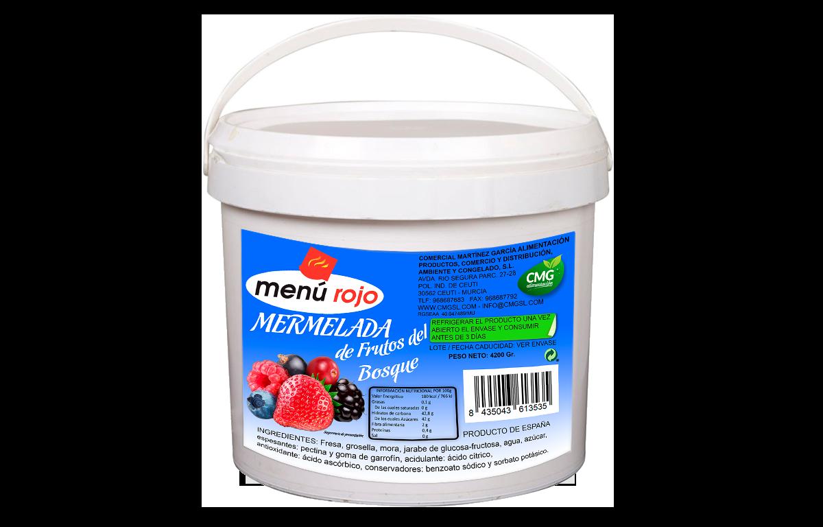 MENU ROJO - MERMELADA DE FRUTOS DEL BOSQUE
